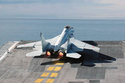 mig-29k-on-carrier